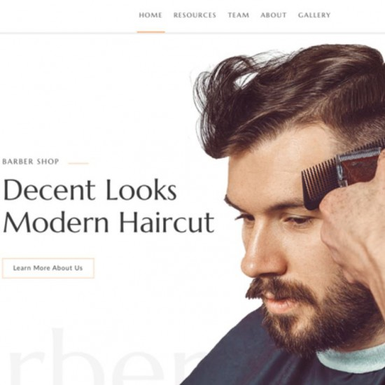 Barber Joomla Template