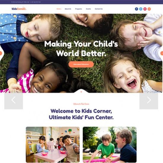 JA Kids Corner Joomla Template