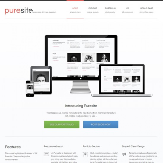 JA Puresite Joomla Template