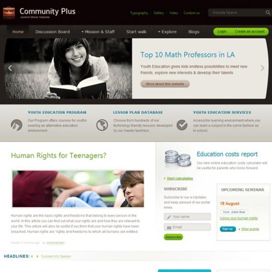 JA Community Plus Joomla Template
