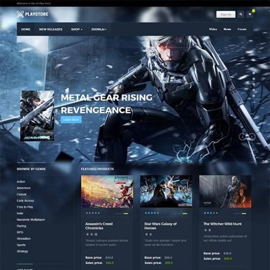 JA Playstore Joomla Template