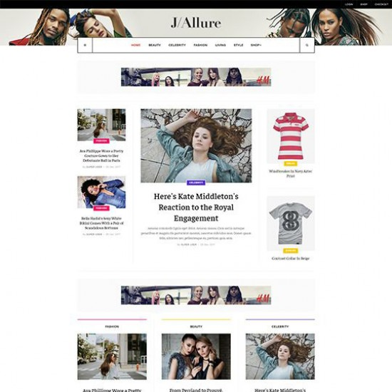 JA Allure Joomla Template