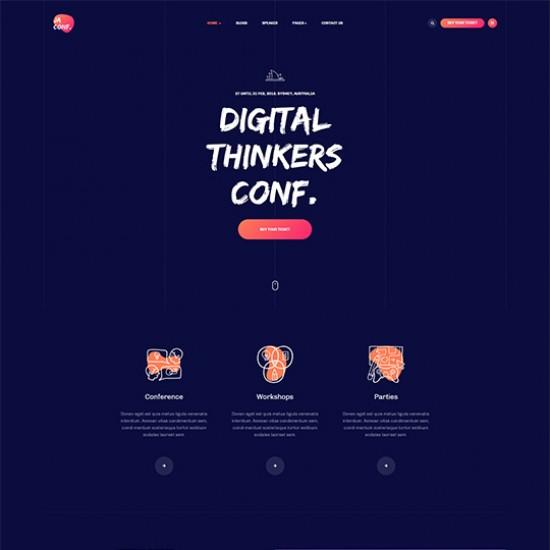 JA Conference Joomla Template