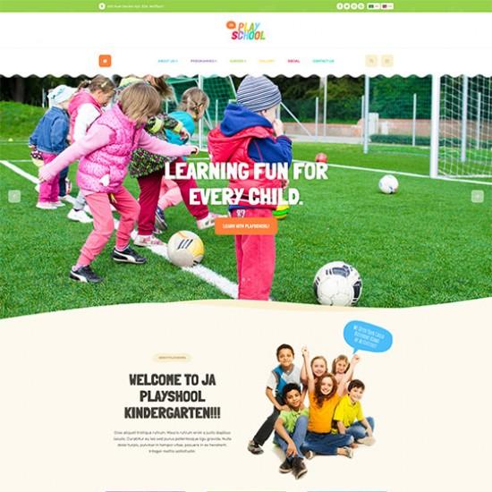JA Playschool Joomla Template