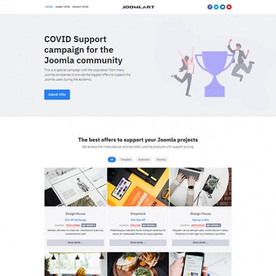 JA Campaign Joomla Template