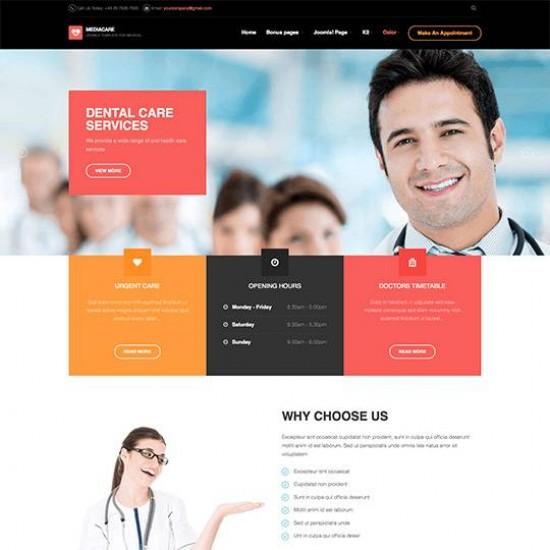 JA Medicare Joomla Template