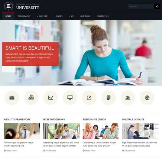 JA University Joomla Template