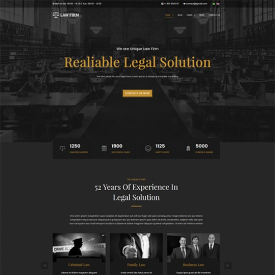 JA Law Firm Joomla Template
