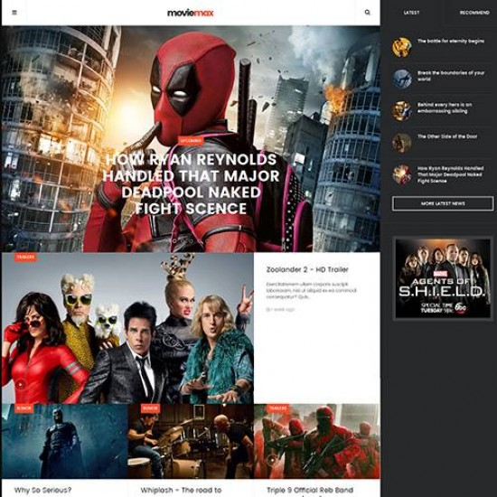 JA Moviemax Joomla Template