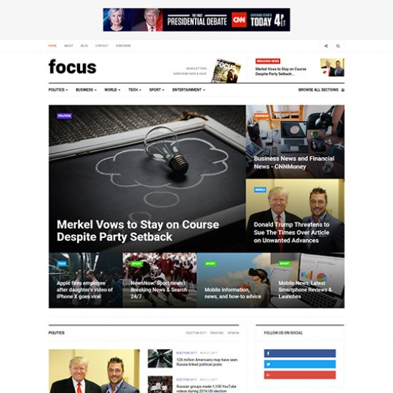 JA Focus Joomla Template