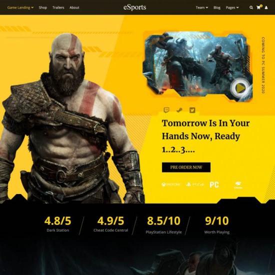 eSports Joomla Template