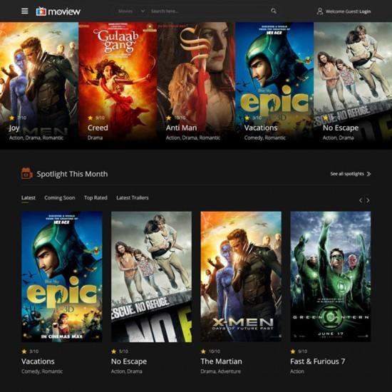 Moview Joomla Template