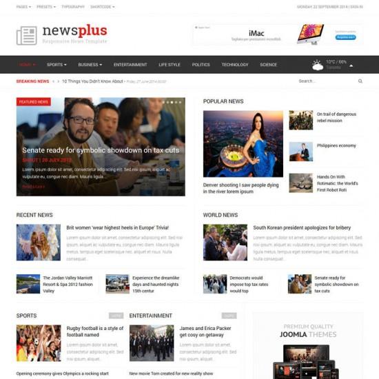 NewsPlus Joomla Template