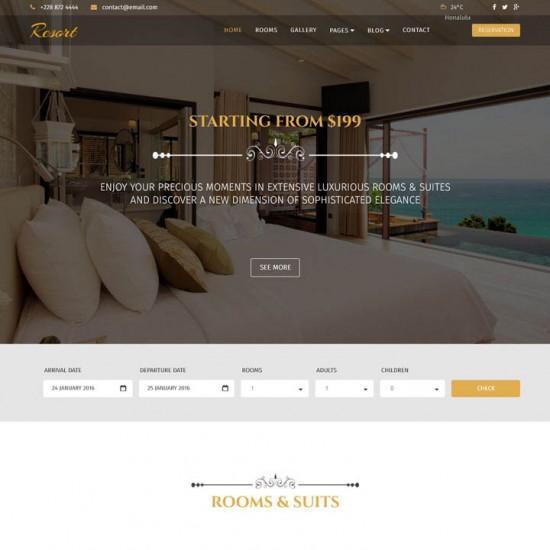 Resort Joomla Template