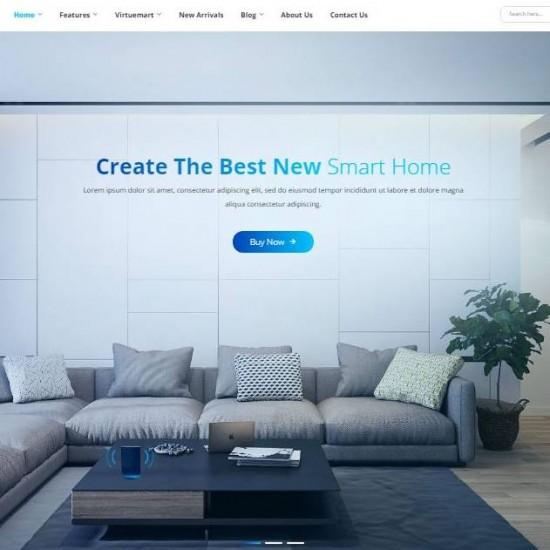 Sj SmartHome Smart Home Automation  Joomla Template