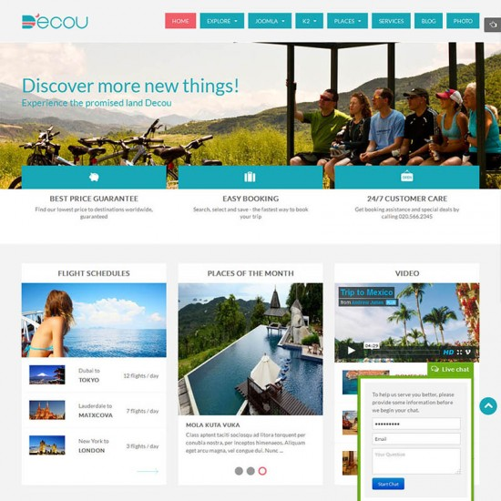 SJ Decou Joomla Travel Template