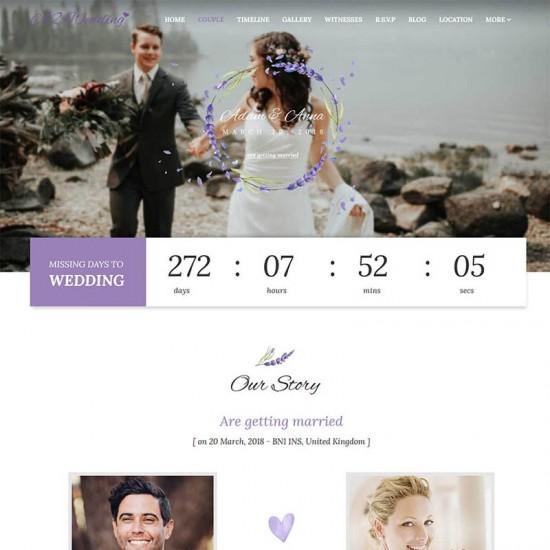 SJ Wedding Joomla Template