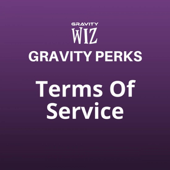 Gravity Perks Terms Of Service
