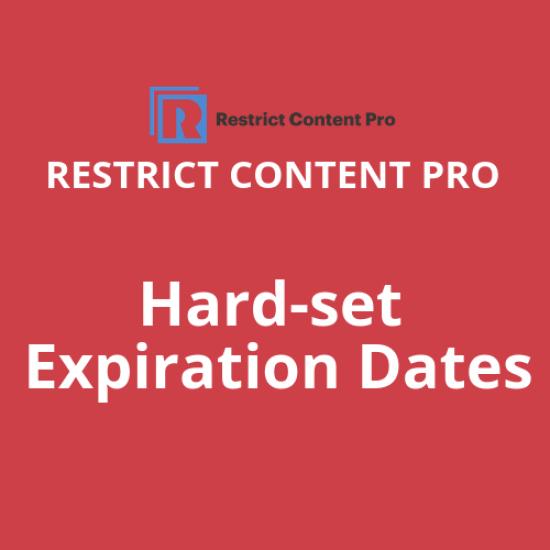 Restrict Content Pro Hard-set Expiration Dates