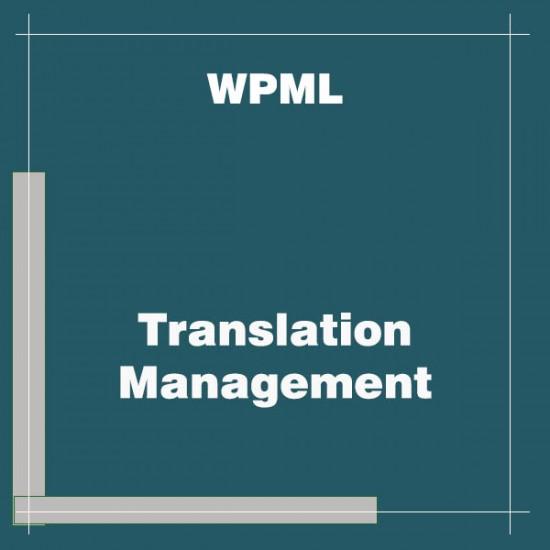 WPML Translation Management Addon