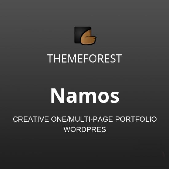 Namos Creative One/Multi-Page Portfolio WordPress Theme