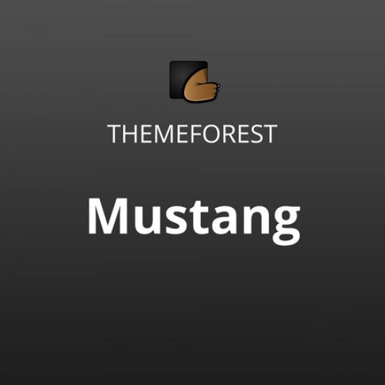 Mustang Bold Minimal WordPress Theme