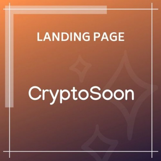 CryptoSoon Coming Soon Template