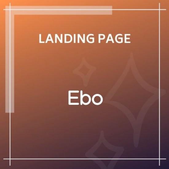 Ebo Ebook Landing Page HTML Template