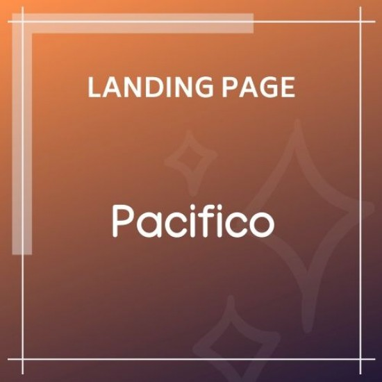 Pacifico Multipurpose HTML Landing Page Template