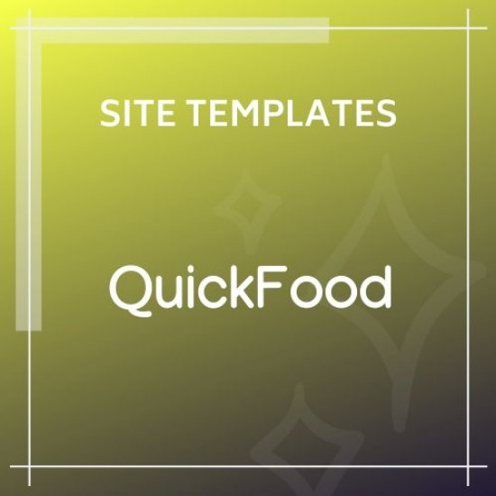 QuickFood Delivery or Takeaway Food Template