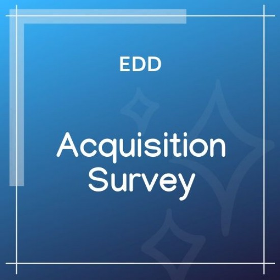 Easy Digital Downloads Acquisition Survey 1.0.2