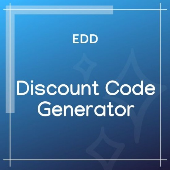 Easy Digital Downloads Discount Code Generator 1.1.0