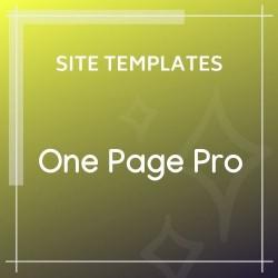 One Page Pro Multi Purpose HTML Template