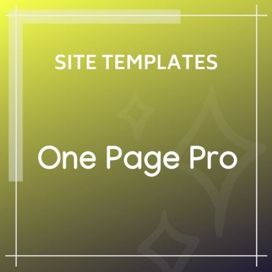 One Page Pro Multi Purpose HTML Template