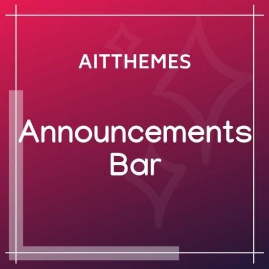 Announcements Bar WordPress Plugin