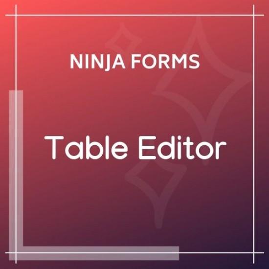 Ninja Forms Table Editor 3.0.3