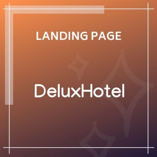 DeluxHotel Responsive Bootstrap 4 Template For Hotels