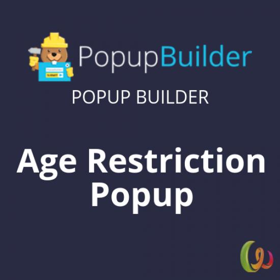 Popup Builder Age Restriction 1.1