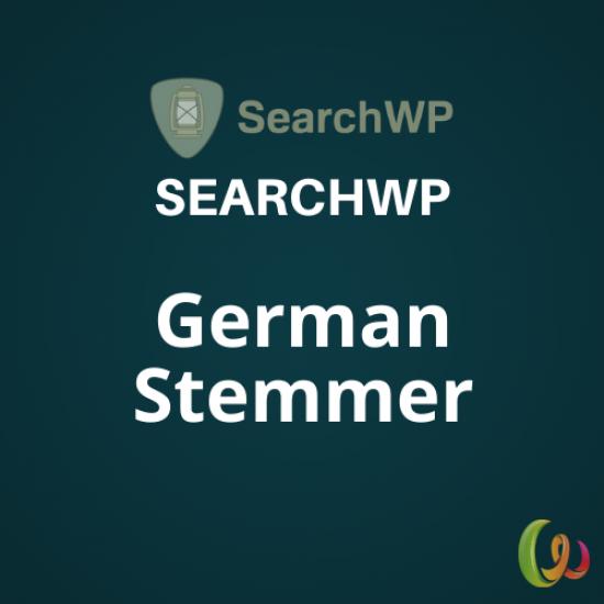 SearchWP German Stemmer 1.0.2