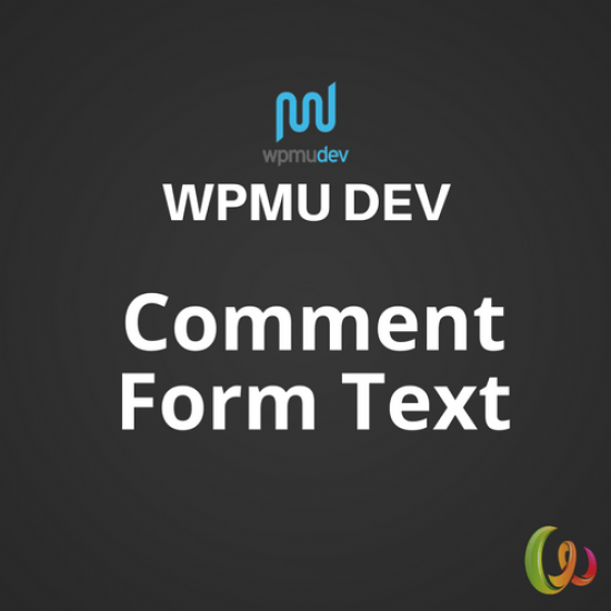 WPMU DEV Comment Form Text 1.0.2
