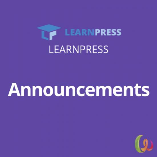LearnPress Announcements Add-on 3.0.2