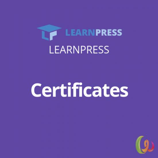 LearnPress Certificates Add-on 3.1.2