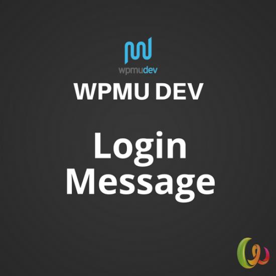 WPMU DEV Login Message 1.0.2