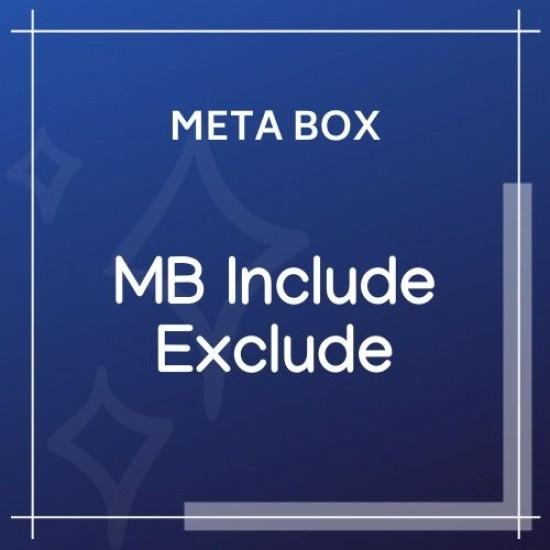 Meta Box Include Exclude 1.0.10