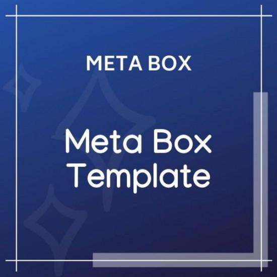 Meta Box Template 1.1.0