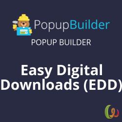 Popup Builder Easy Digital Downloads (EDD)