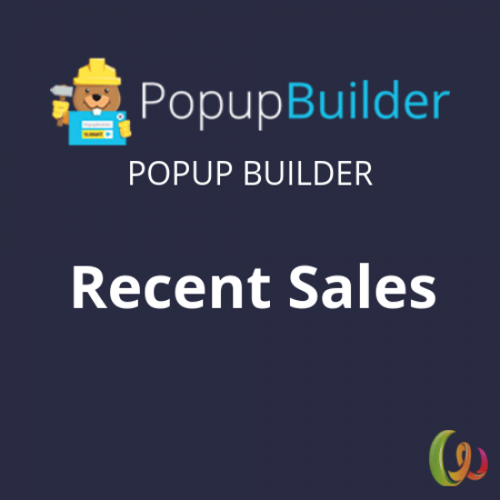 Popup Builder Recent Sales