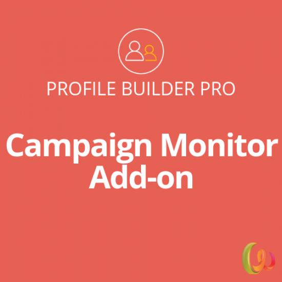 Profile Builder Campaign Monitor Add-on