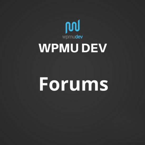 WPMU DEV Forums 2.0.2.4