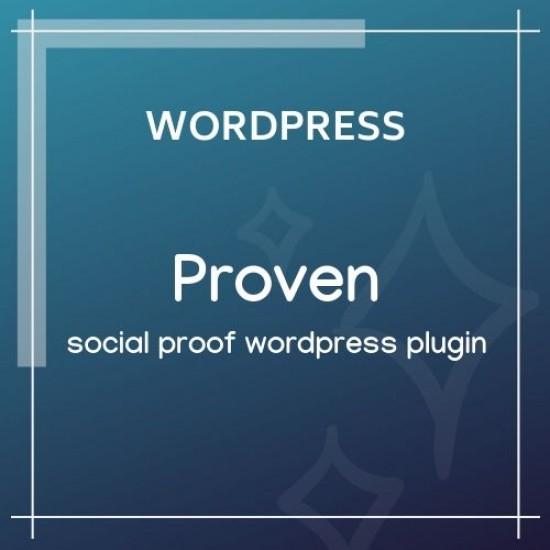 Proven Social Proof WordPress Plugin